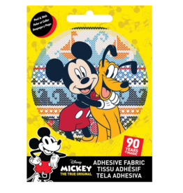 Mickey & Pluto - Adhesive Fabric Patch