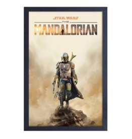 The Mandalorian: Mando on Cliff Canvas Art