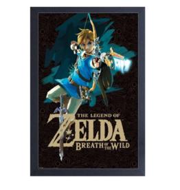 Zelda (BotW - Link with Bow) Canvas Art