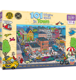 Masterpieces Puzzles & Games 101 Things to Spot in Town (100pc)