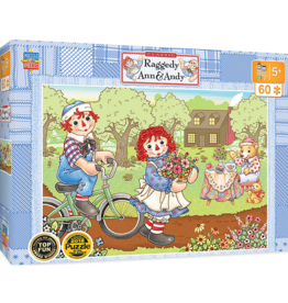 Masterpieces Puzzles & Games Raggedy Ann & Andy - Bike Ride (60 pc Right Fit)