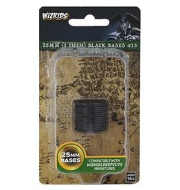WizKids Bases - Black 25mm Round (15 count
