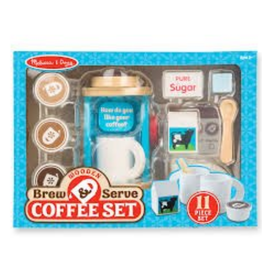 Melissa & Doug Brew & Serve Wooden Coffee Set