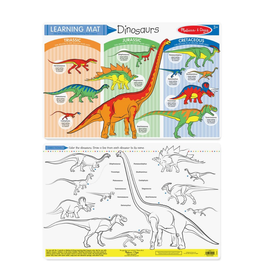 Melissa & Doug Learning Mat - Dinosaurs