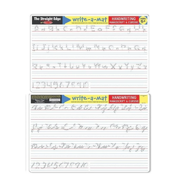 Melissa & Doug Learning Mat - Handwriting (Manuscript and Cursive)