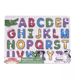Melissa & Doug See - Inside Alphabet Peg Puzzle - 26 pieces