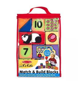 Melissa & Doug Match & Build Soft Blocks