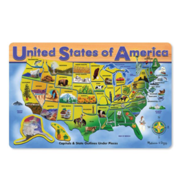 Melissa & Doug U.S.A. Map Wooden Puzzle (45 pieces)