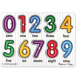 Melissa & Doug Lift & See Peg Puzzle (Numbers)