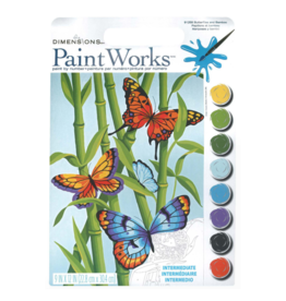 Paint Works Butterflies & Bamboo (Intermediate)
