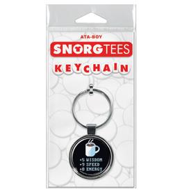 Ata-Boy SnorgTees: Coffee Stats Keychain