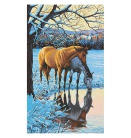 Paint Works Reflections (Horses at Stream) - Large