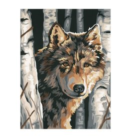 Paint Works Wolf Among Birches (Intermediate)