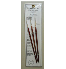 00,1,3 Clarendon Red Sable Brushes (3)