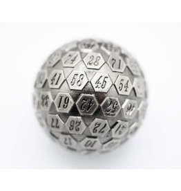 Foam Brain Games 45mm D100 (Metal - Silver)