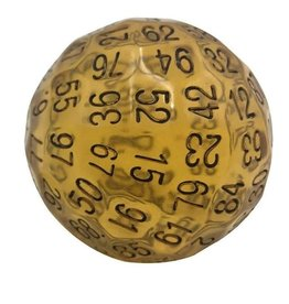 Foam Brain Games 45mm D100 (Translucent Amber)