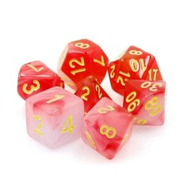 Foam Brain Games Polyhedral Dice Set (Red Milky)