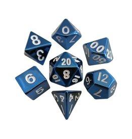16mm Metal Polyhedral Dice Set (Blue)