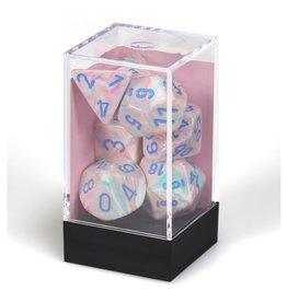 Polyhedral Dice Set (Festive Pop Art w/Blue)