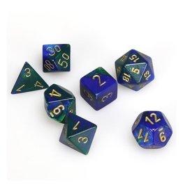 Polyhedral Dice Set (Gemini Blue-Green w/Gold)