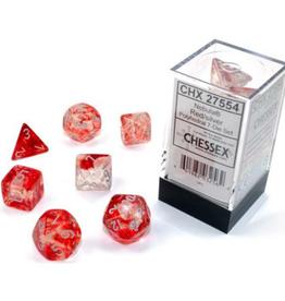 Polyhedral Dice Set (Luminary Nebula Red/Silver)