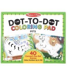 Melissa & Doug 123 Dot-to-Dot Coloring Pads (Pets)