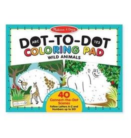Melissa & Doug ABC 123 Dot-to-Dot Coloring Pad (Wild Animals)