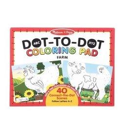 Melissa & Doug ABC Dot-to-Dot Coloring Pad (Farm)