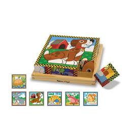 Melissa & Doug Wooden Cube Puzzle (Pets)