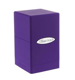 Satin Tower Deck Box (Purple)
