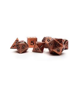 Metal Polyhedral Dice Set (Legendary Copper w/Black Signature)