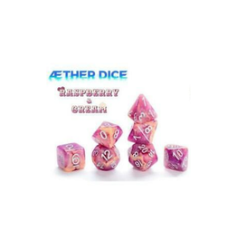 Gate Keeper Games 7-Die Set (Aether - Rasberry and Cream)