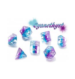 Gate Keeper Games 7-Die Set (Eclipse - Cyanethyst)