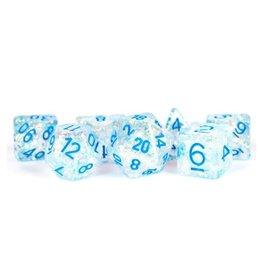 Polyhedral Dice Set (Flash - Clear w/Light Blue)