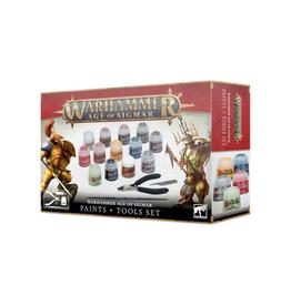 Games Workshop Warhammer Age of Sigmar Paints + Tools Kit