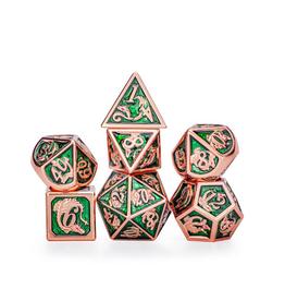 Hymgho Metal Dragon Dice (Solid - Copper w/Green)