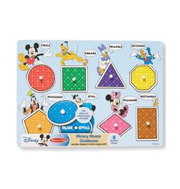 Melissa & Doug Colors & Shapes Wooden Peg Puzzle (Mickey Mouse)