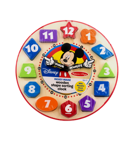 Melissa & Doug Wooden Shape Sorting Clock (Mickey Mouse)