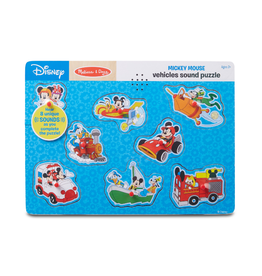 Melissa & Doug Wooden Sound Puzzle (Mickey Mouse & Friends - Vehicles)
