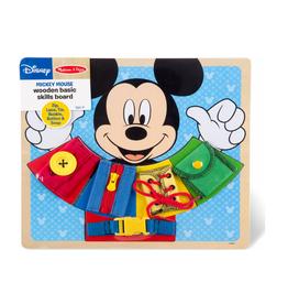 Melissa & Doug Wooden Chunky Basic Skills Board (Mickey Mouse)