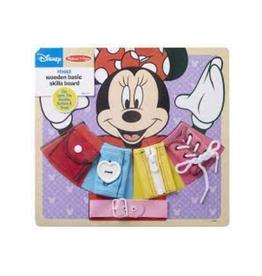 Melissa & Doug Wooden Basic Skills Board (Minnie Mouse)