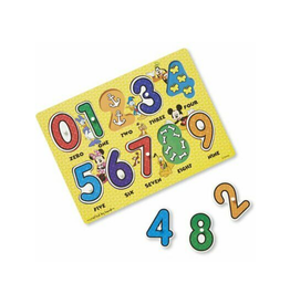 Melissa & Doug Numbers Wooden Peg Puzzle (Mickey Mouse)