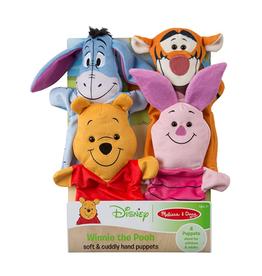 Melissa & Doug Soft & Cuddly Hand Puppets (Winnie the Pooh)