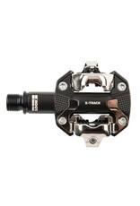 Look Look, X-Track, MTB Clipless Pedals, Aluminum body, Cr-Mo axle, 9/16'', Black