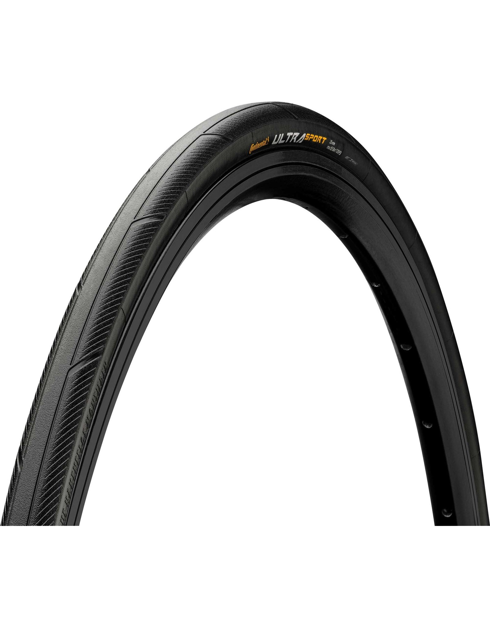 Continental Continental Ultra Sport III Tire - 27 x 1.25 (1/4), Clincher, Wire, Black