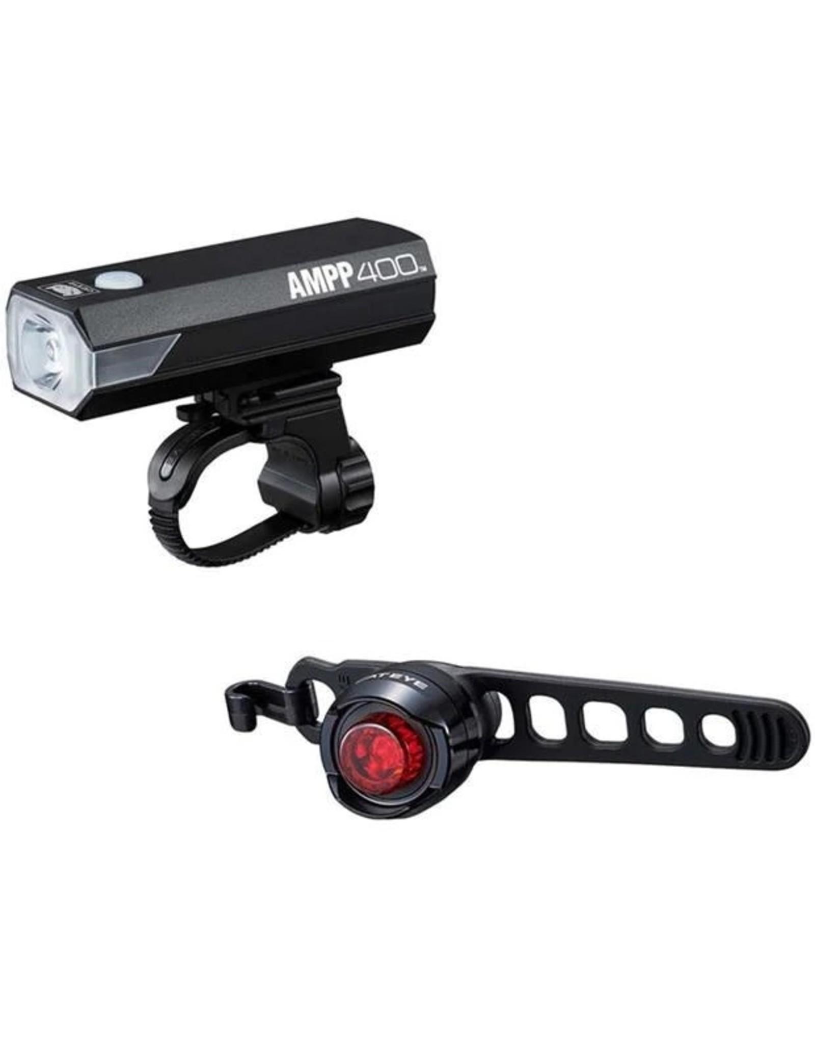 CatEye Cat Eye, AMPP 400 Headlight + ORB rear, Light set