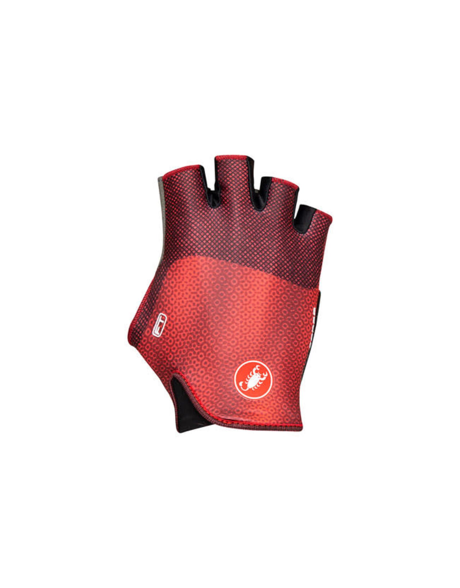 Castelli CASTELLI, Rosso Corsa Pave glove, wmn