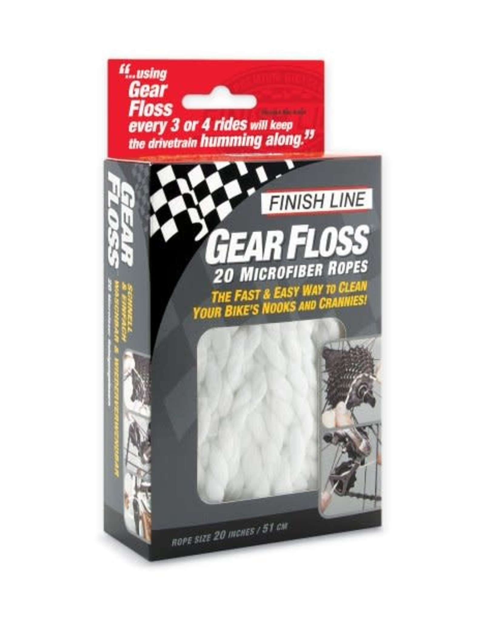 FINISH LINE Finish Line, Gear Floss, pack of 20