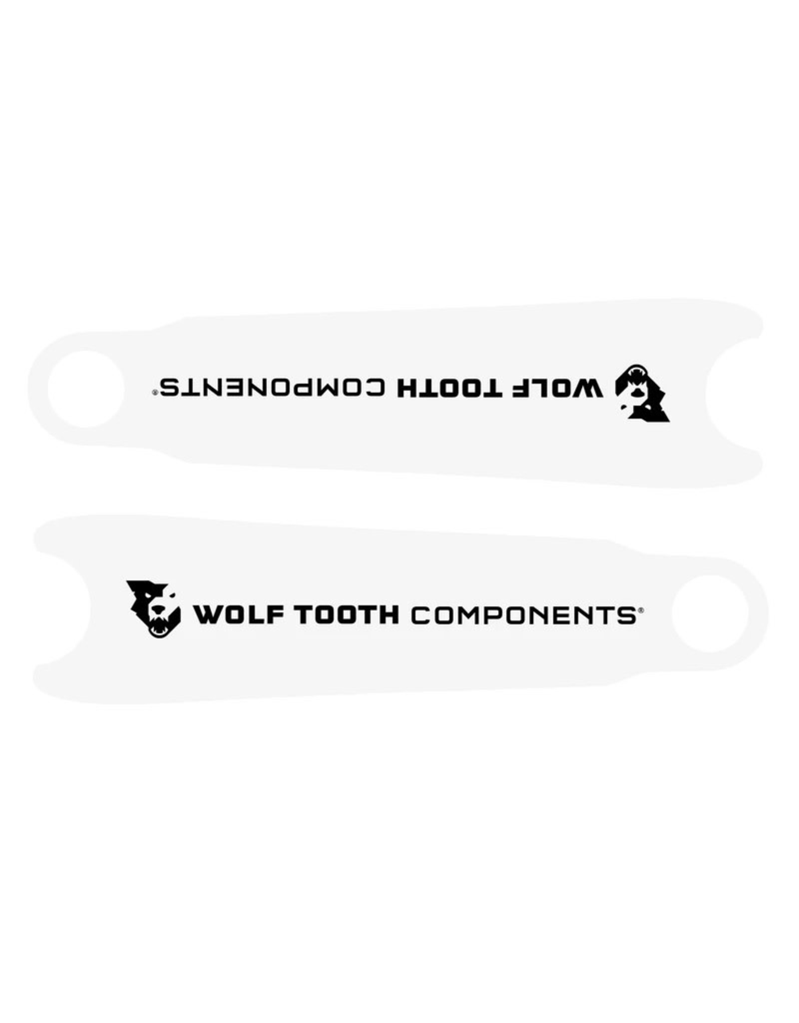 Wolf Tooth components Wolf Tooth Components, Crankskins, Clear
