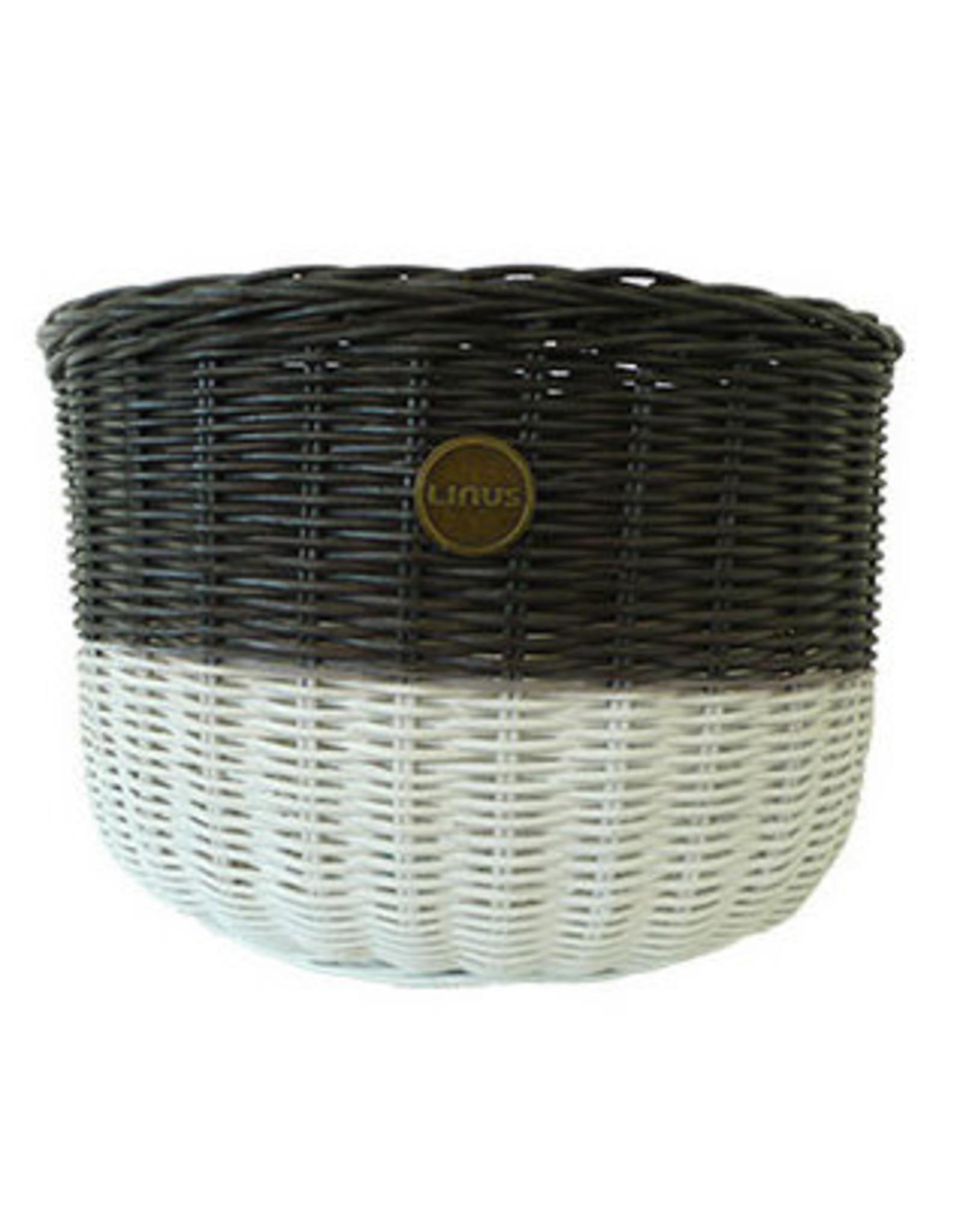 Linus LINUS, Oval Basket Rattan, Brown/White